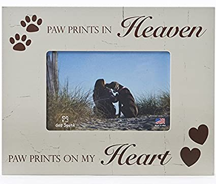 Amazon.com - Paw Prints In Heaven Paw Prints On My Heart 4x6 Pet Dog ...