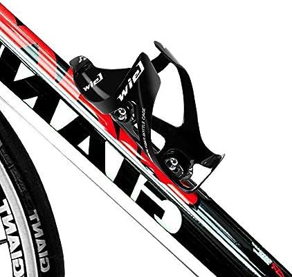 Wiel - Portabidón para bicicleta, fibra de carbono, con soporte ...
