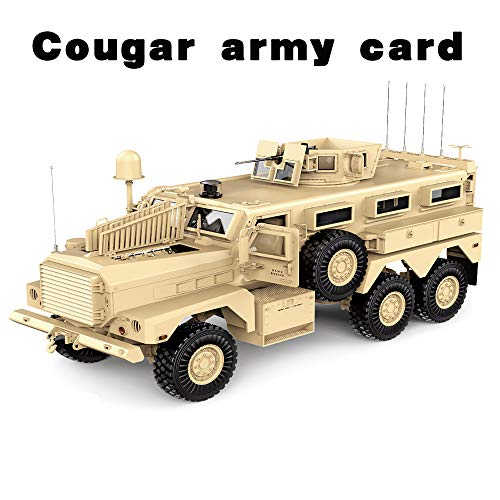 HG P602 RC Military Truck 1/12 Simulation Model Cougar Army Card Hengguan Hummer Off-Road RC Domineering Remote Control Truck with Sound and Lights