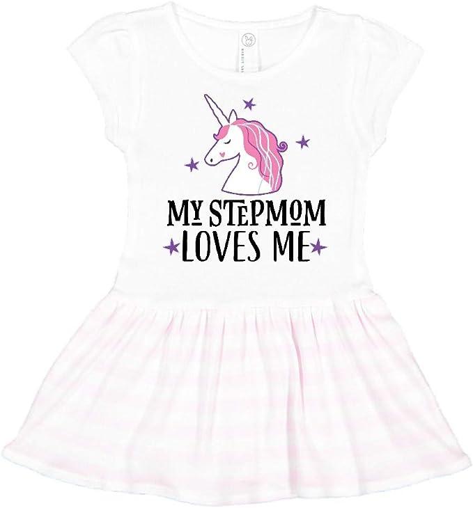 inktastic My Stepmom Loves Me Unicorn Toddler T-Shirt