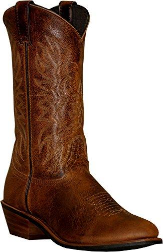 - Abilene Men's Sage Dark Cowboy Boot Round Toe Brown 7.5 D(M) US