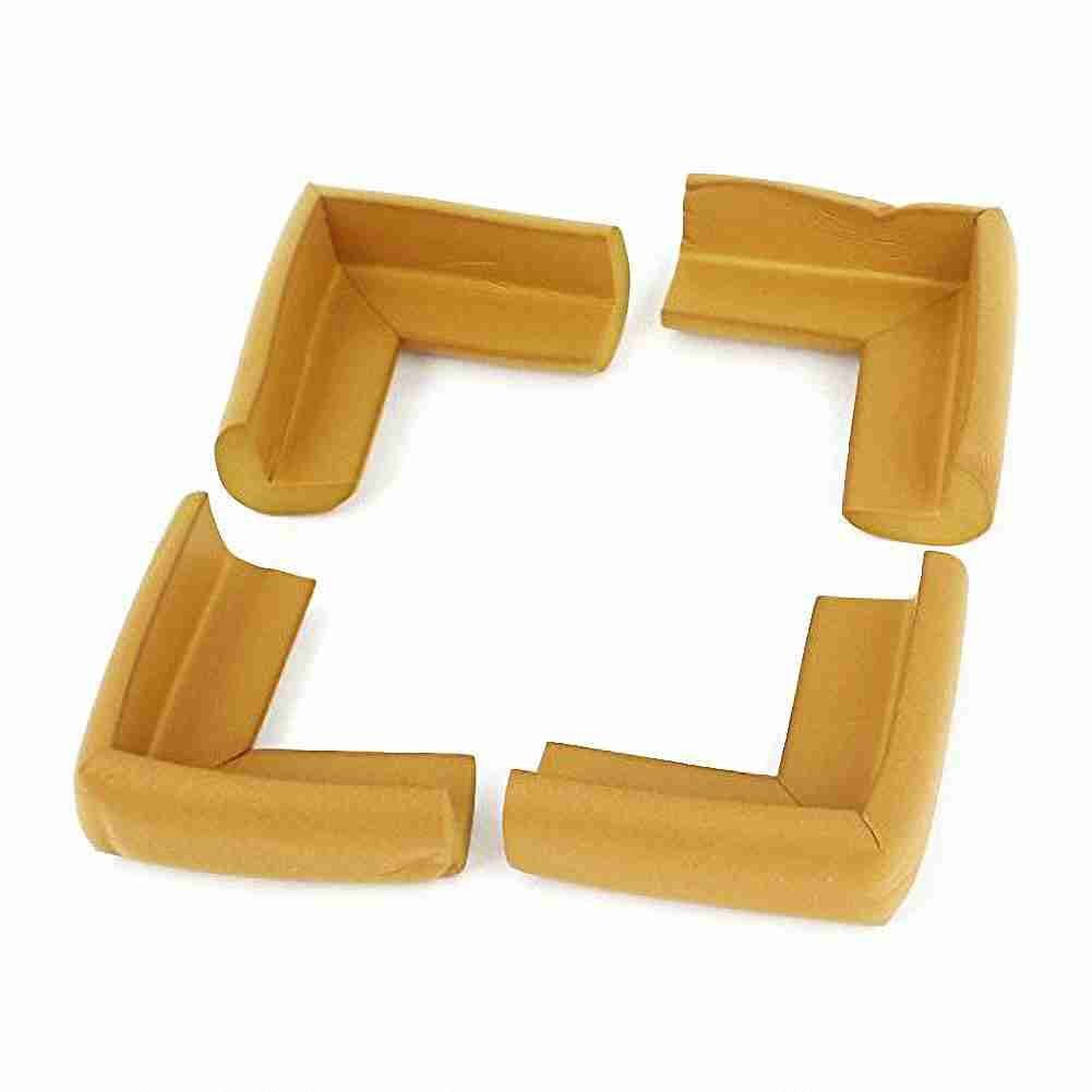 Move& Moving(TM) Foam Table Cupboard Worktop Corner Cover Protector Cushion 4 Pcs Khaki
