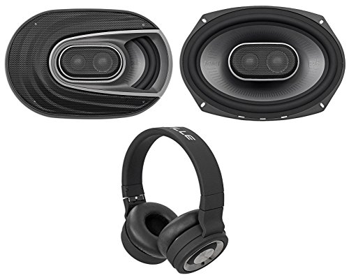 (2) Polk Audio MM692 6x9 900W Car/Marine/ATV/Motorcycle Speakers+Headphones