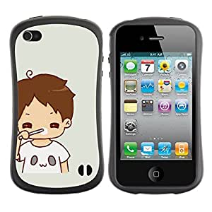 "Hypernova Slim Fit Dual Barniz Protector Caso Case Funda Para Apple iPhone 4 / iPhone 4S [Kid mamá Madre Dulce bebé""]"
