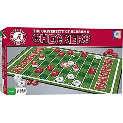MasterPieces NCAA Alabama Crimson Tide Checkers Game : Sports & Outdoors