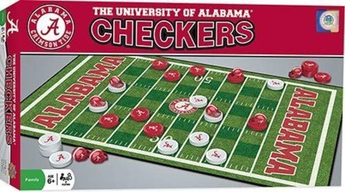 NCAA Alabama Crimson Tide Checkers, Gray, Small