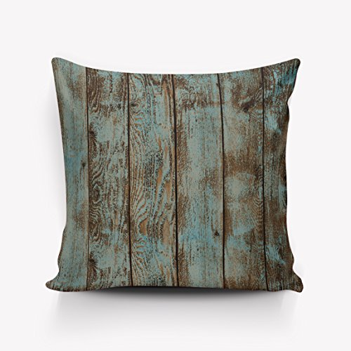 Rustic Wood Board Throw Pillow Indoor Cover Pillow Case For Home Sofa Car Office 20''x20''(Two Sides,Satin) by Rocking Giraffe (Image #5)