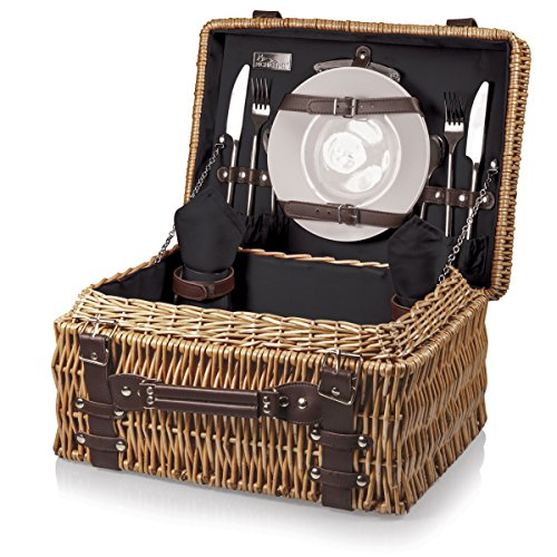 NBA Milwaukee Bucks Champion Picnic Basket, One Size, Black by PICNIC TIME