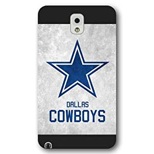 UniqueBox Customized NFL Series Case for Samsung Galaxy Note 3, NFL Team Dallas Cowboys Logo Samsung Galaxy Note 3 Case, Only Fit for Samsung Galaxy Note 3 (Black Frosted Shell)