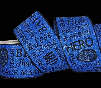 Amazon Com Ribbon Art Craft Decoration 10 Yards Police Cop Blue