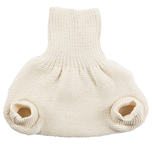 Merino Wool Cloth Diaper Cover, Single Layer (86-92 / 12-18 months, Natural) (Free Crochet Baby Layettes)