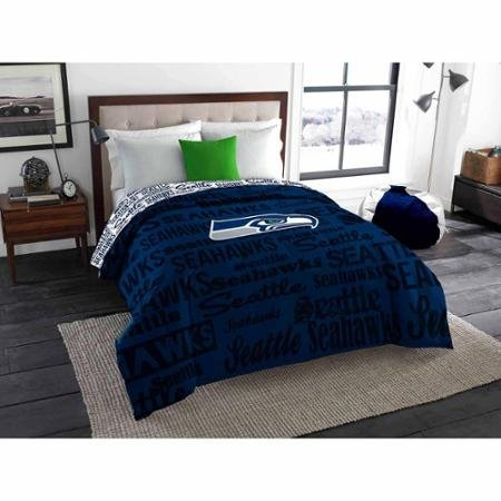 NFL Anthem Twin/Full Bedding Comforter Only, Seattle Seahawks