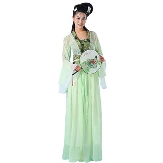 DAZISEN Disfraz de Estilo Chino - Mujer Chino Antiguo Tang ...