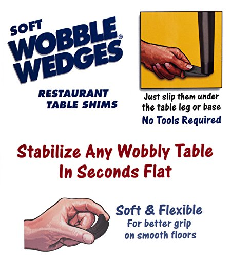 Wobble Wedge - Soft Black - Table Shims - 75 pc by WOBBLE WEDGES (Image #1)