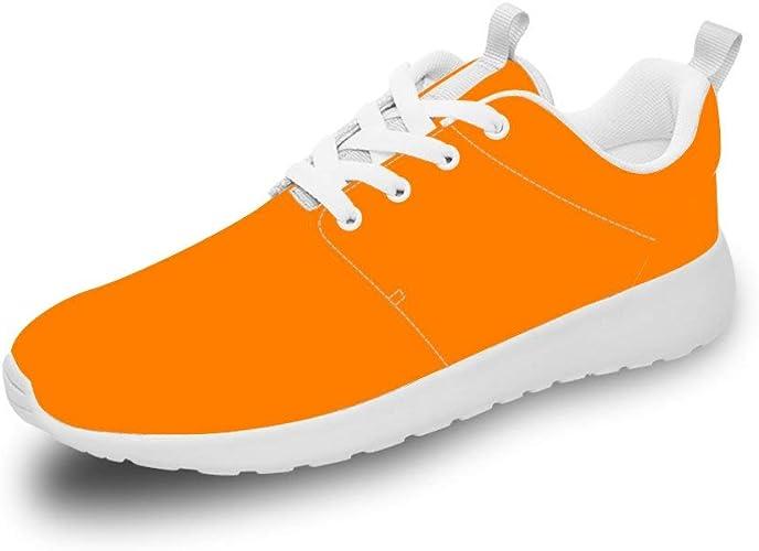 Mesllings Zapatillas de Running Unisex Color Naranja, Ligeras ...