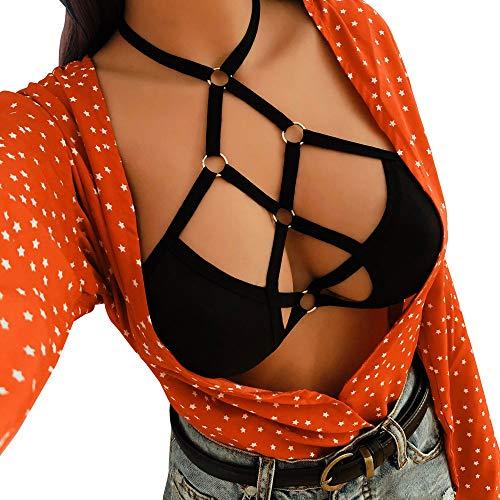 Soutien Up Lingerie Gorge vêtements Noir ◕‿◕LianMengMVP Sexy Dentelle de Bandage Corset Femmes Push Top sous XwAHgq