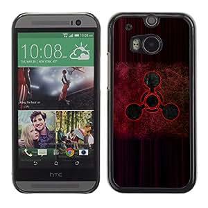 A-type Arte & diseño plástico duro Fundas Cover Cubre Hard Case Cover para HTC One M8 (Señal roja)