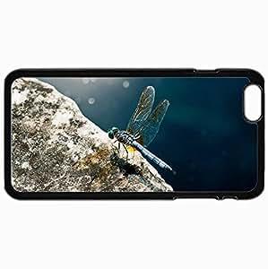 Fashion Unique Design Protective Cellphone Back Cover Case For iPhone 6 Plus Case Dragonfly Black