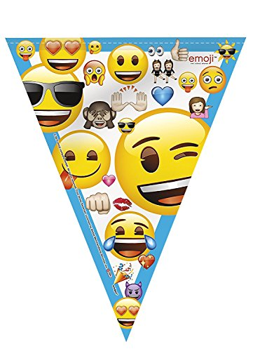 Emoji-Party-Supplies-for-16-Includes-Plates-Napkins-Hanging-Banner-Swirl-Decorations-Centerpieces