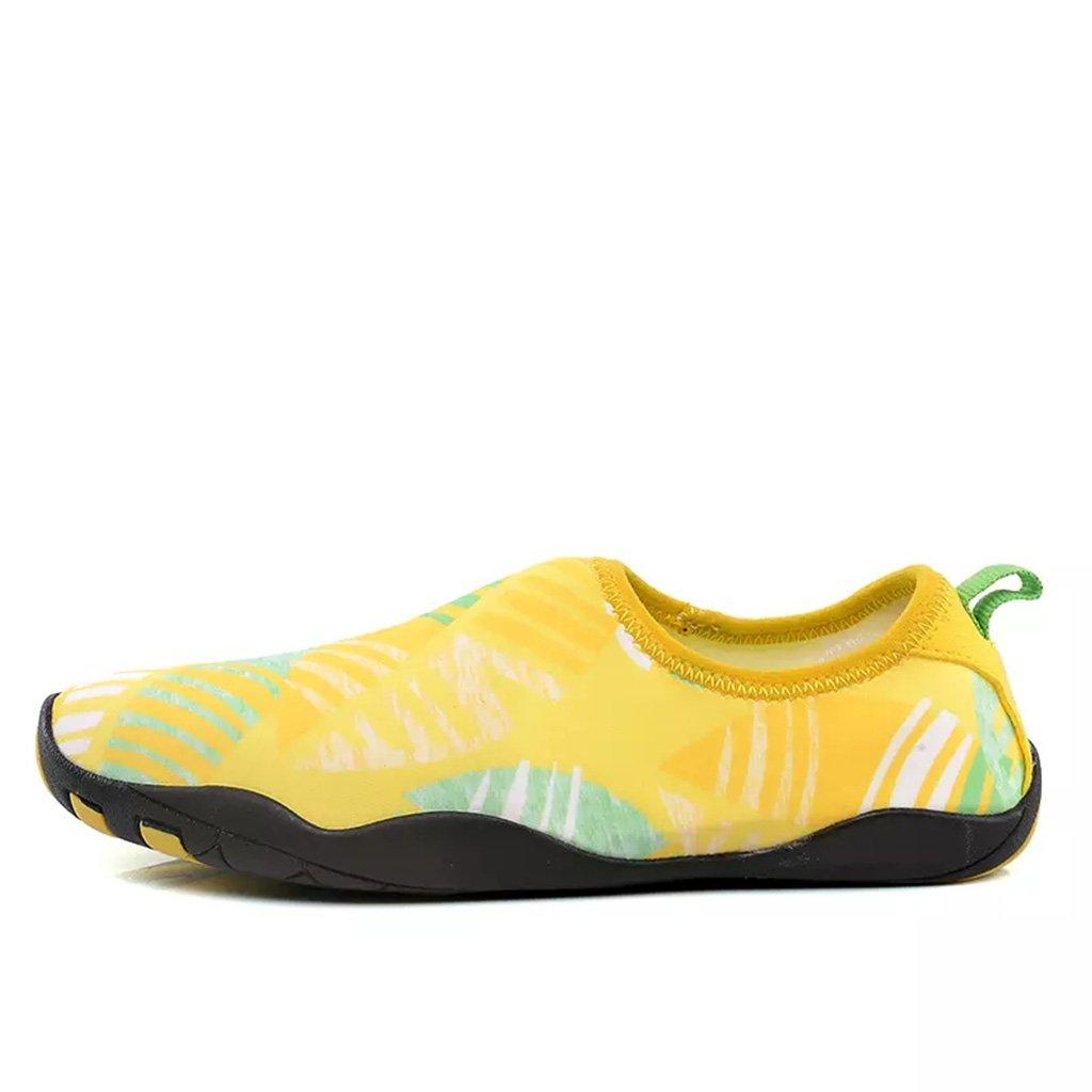 Schwimmschuhe Blau   Rosa   Gelb   Dunkelgrau Round - Schuhe - Kopf Paar Modelle Rutschfeste Gummisohle + Obermaterial Aus Stoff Schnorchelschuhe Kind Draussen Lässige Schuhe Strandschuhe Weiche Schuhe ( Farbe   Rosa , größe   EU36 UK4 CN36 )