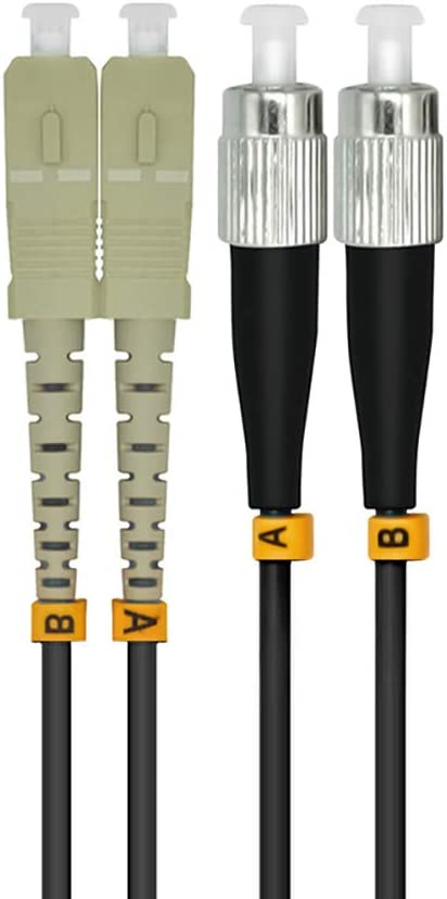 Jeirdus 20M LC to LC 10G OM3 Outdoor Armored Duplex 50//125 Fiber Optic Cable Jumper Optical Patch Cord Multimode 20Meters LC-LC