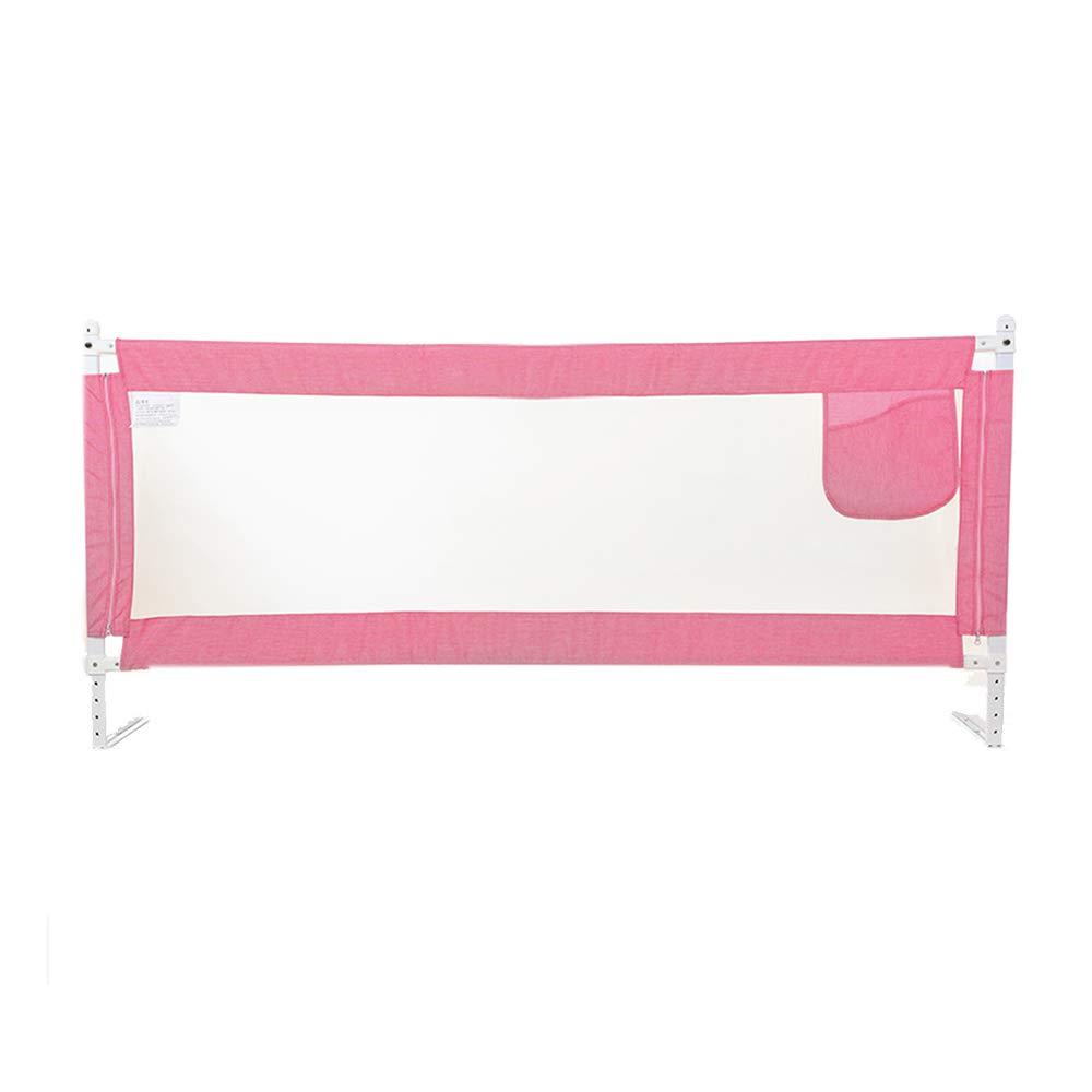 王様 ガードレール ベッドの塀の赤ん坊の反落下ベッドのガードレールの普遍的な縦の持ち上がる-1.2cm、150cm、180cm、200cm (Color : Pink, Size : L-150cm) L-150cm Pink B07TW962D5