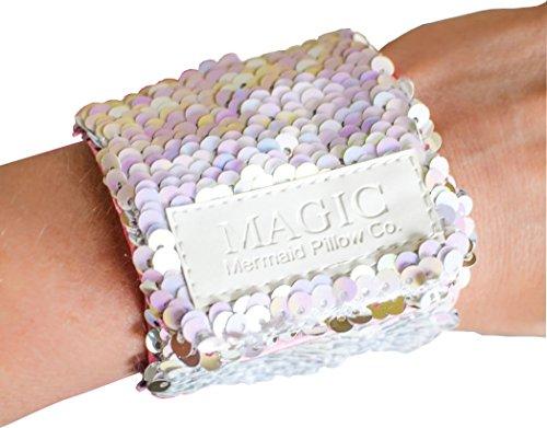 Costume Girl Ideas Magical (Mermaid Bracelet w/ Reversible Sequins & Velvet Lining (Iridescent &)