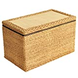 Seat Cushions Can Bear The Weight of 150KG Low Stool Square Casual Shoe Bench Sitting Stool Sofa Stool Low Stool Straw Sitting on pier Furniture Accessories (Color : Wood, Size : 504045cm)