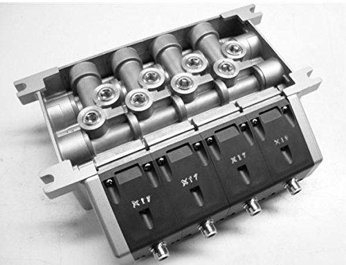 Smc Vv814-03S-W04d-X17 Pneumatic Manifold 4 Station Iso Vv814-03S-W04d-X17