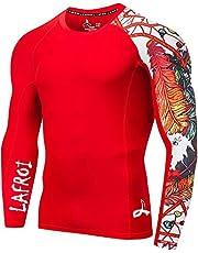 LAFROI Heren UPF 50+ Baselayer Skins Performance Fit Compressie Rash Guard-CLYYB