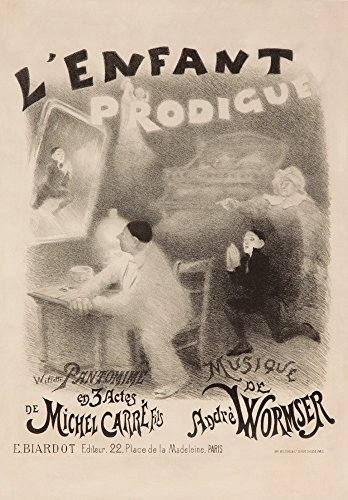 L'Enfant Prodigue Vintage Poster (artist: Willette) France c. 1890 (36x54 Giclee Gallery Print, Wall Decor Travel Poster)