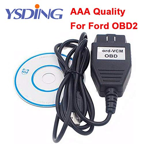 Ysding Best Green PCB Ford VCM OBD Auto Diagnostic Cable FoCOM Diagnostics Program VCM OBD OBD2 Interface Car 1996~2010