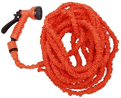 ZHTY Garden hose,25FT-250FT Garden Hose Expandable Flexible Water Hose Hose Plastic Hoses Pipe With Spray Gun To Watering Car Wash Spray 100ft-Orange