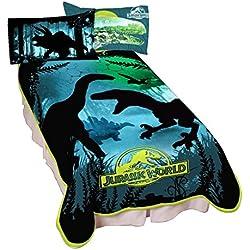 "Universal Jurassic World Dino Experience Microraschel Blanket, 62"" x 90"""
