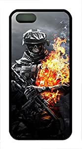 iPhone 5 5S Case Skull Warrior TPU Custom iPhone 5 5S Case Cover Black