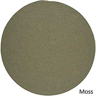 product image for Rhody Rug Woolux Wool l Braided Rug (10' Round) Moss Green