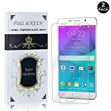 Galaxy A7 2016 Screen Protector Tempered Glass, Bear Village Anti-Scratch Bubble Free HD Screen Protector Film for Samsung Galaxy A7 2016-2 Pack