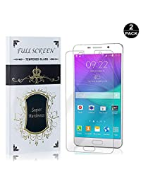 Galaxy A7 2016 Screen Protector, UNEXTATI® Premium HD [Easy Install] [Anti-Fingerprint] Tempered Glass Screen Protector Film for Samsung Galaxy A7 2016 (2 PACK)