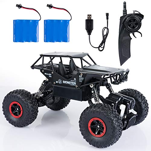 Domean RC Cars with 2 Batteries, Off-Road Rock Vehicle Crawler, 1:14 Radio Remote Control Racing Cars Electric Fast Race Buggy Hobby Car for Birthday ()