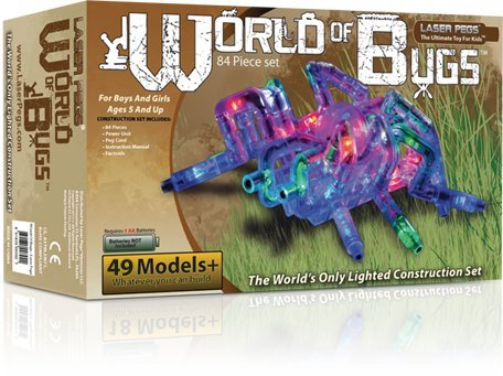 Light Up Building Construction Set – Laser Pegs – World of Bugs Deluxe Set (84 Lighted Pieces), Baby & Kids Zone