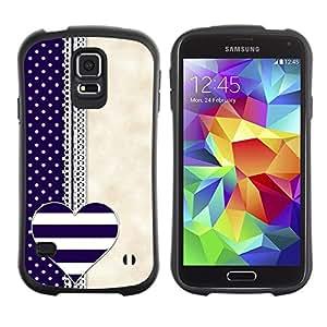 """Hypernova Slim Fit Dual Barniz Protector Caso Case Funda Para Samsung Galaxy S5 [Cuaderno Azul Beige Blanco""""]"""