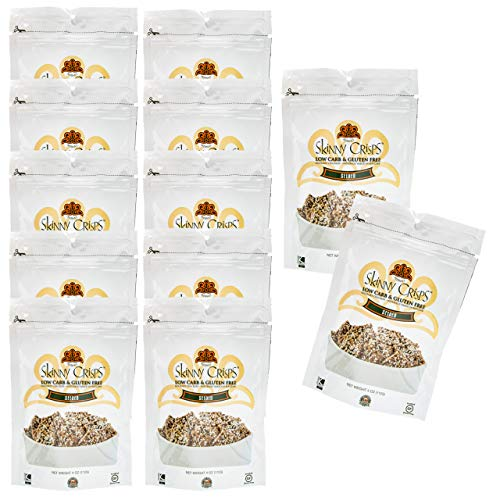 Skinny Crisps Seeded Low Carb & Gluten Free Crackers 4 Ounce Bag (12 Bags) by Skinny Crisps (Image #2)