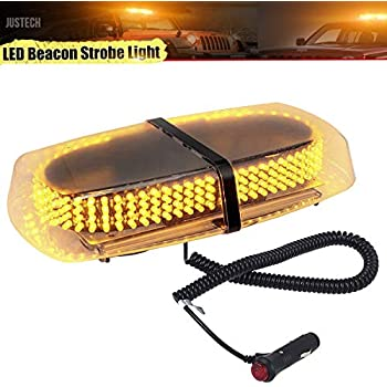 12v-24v HIGH POWER 15W LED FLASHING BEACON LIGHT AMBER MAGNETIC RECOVERY WARNING