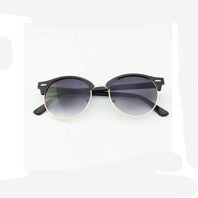 ZHANG Lunettes de soleil femme lunettes personnalité miroir visière ronde vague rétro de conduite des lunettes de soleil hommes yourte, q15