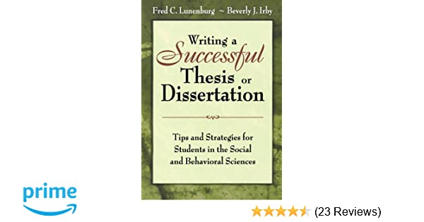 writing a successful thesis or dissertation lunenburg
