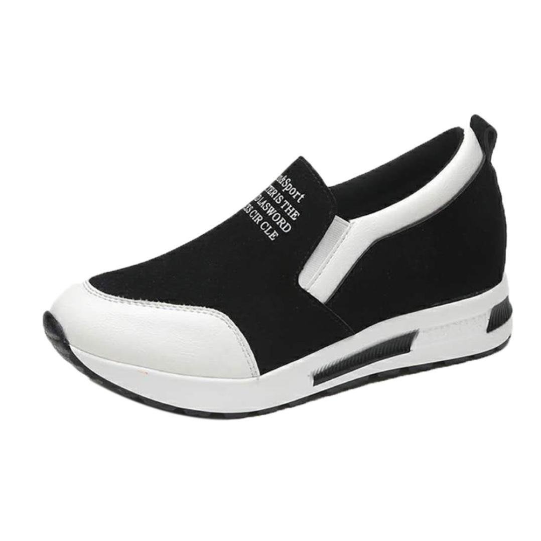 Malloom® Femmes Bottes compensées Chaussures Chaussures à semelles 19265 Glisser sur compensées Cheville Mode Décontractée Blanc 6720894 - deadsea.space