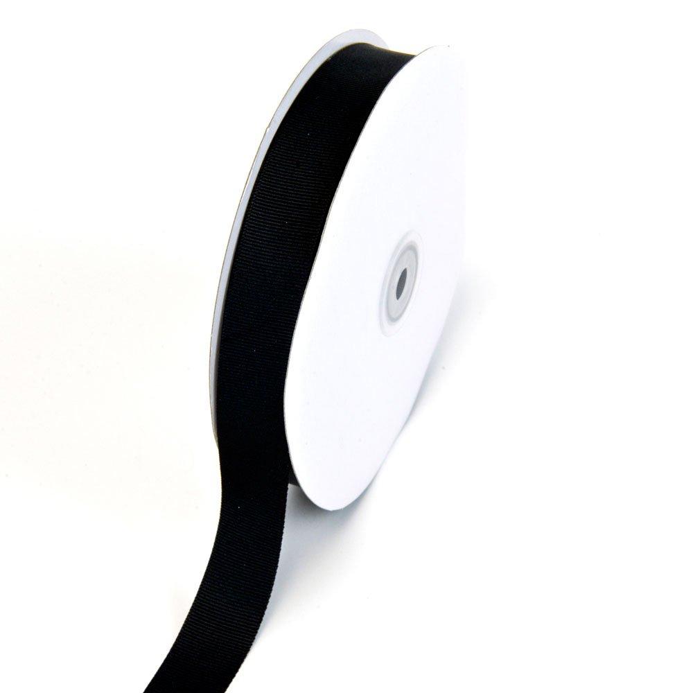 Creative Ideas 7/8-Inch Solid Grosgrain Ribbon, 50-Yard, Black