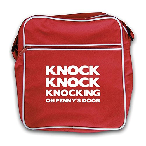 Knock Knock Flight On Bag Penny's Knocking Red Door Red Retro rrapwZgqB