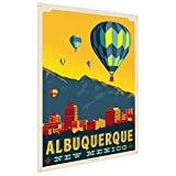 Anderson Design Group Albuquerque, NM 9''x12'' Metal Art Print, Home Decor for Office, Nursery, Patio, Garage, Cabin, or Vacation Home