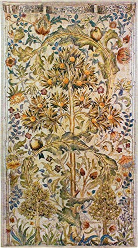 Summer Quince by William Morris | Woven Tapestry Wall Art Hanging | Elaborate Tree Pattern | 100% Cotton USA Size 68x35
